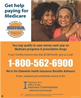 Get help paying for Medicare poster with two african american ladies