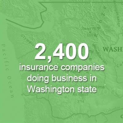 2,411 insurance companies doing business in Washington state