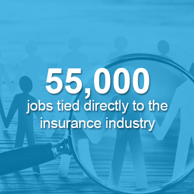 55,000 tied directly to the insurance industry