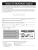 Medicare Part D Rx Plan Finder worksheet form