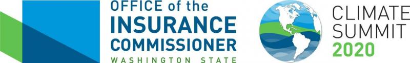 Office of the Insurance Commissioner and Climate Summit 2020 logos
